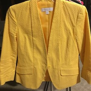 New York & Company Yellow Blazer